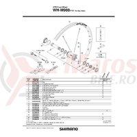 Colivie cu bile Shimano HB-M988 stanga 5/32