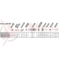 Componente pt. butuc Shimano nexus SG-3C41 (175/178mm) saiba ANTI-ROTIRE stanga piulita cu flansa x2