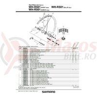 Componente pt. roti Shimano WH-R501-30S/L spate spite (282mm x24) niplu x24 ambalat ind.