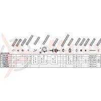 Componente Shimano Nexus SG-3R40 (176.8mm) tija 86.85mm saiba ANTI-ROTIRE piulita cu flansa & piulita infundata garnitura praf