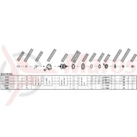 Componente Shimano Nexus SG-7R45, fara pinion & arm clip, pentru dropout track (5R/5L), saiba 3.2mm x 2, capete, garnituri pt praf dreapta, incl. CJ-NX10