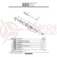 Con Shimano FH-M775-S/L contrapiulita stanga M14 cu garnitura pentru praf