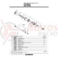 Con Shimano FH-M820 contrapiulita stanga M15 & con cu garnitura pentru praf