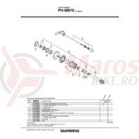Con Shimano FH-M970 stanga M14 contrapiulita cu garnitura pentru praf