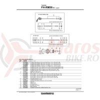 Con Shimano FH-RM30-7S dreapta M10 x15mm