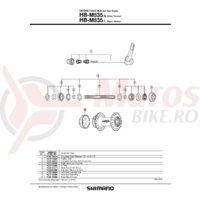 Con Shimano HB-M535 contrapiulita dreapta
