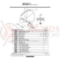 Con Shimano WH-RS11-R contrapiulita stanga