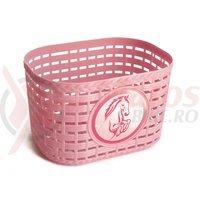 Cos bicicleta plastic roz