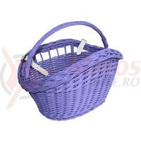 Cos bicicleta rachita color mov cu maner 40x29x24 cm