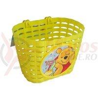 Cos fata plastic desen ursuletul Winnie galben