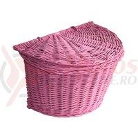 Cos rachita semicerc cu capac roz fara curele