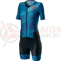Costum Triatlon cu maneca scurta Castelli Free Sanremo 2 W Suit Multicolor Marine