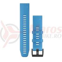 Curea Garmin Quickfit 22 silicon albastru azur