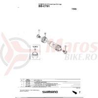 Cuveta Shimano BB-CT91 stanga (M36 x 24T) filet italian