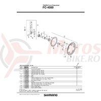Cuveta Shimano FC-4500 stanga (B.C.1.37