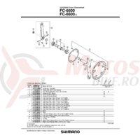 Cuveta Shimano FC-6600 stanga B.C.1.37X24T filet englezesc