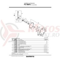 Cuveta Shimano FC-6601G dreapta (B.C.13.7