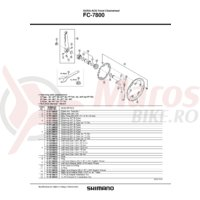 Cuveta Shimano FC-7800 dreapta (M36 x 24T) filet italian