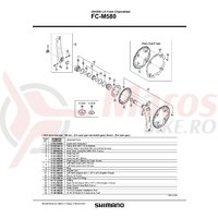 Cuveta Shimano pentru FC-M580 dreapta  (B.C.1.37
