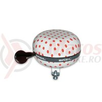 Sonerie Basil Polka Dot white/red dots, 80mm