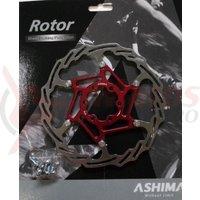 Disc Ashima Aro-18, 180mm, rosu