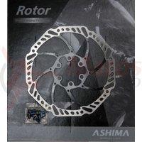 Disc frana Ashima ARO-15 160mm negru