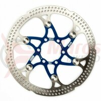 Disc frana FX16 Floating Rotor 160mm 108g cu prindere in 6 suruburi, Albastru