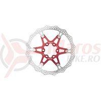 Disc frana Reverse Discrotor 160mm aluminiu/otel rosu C