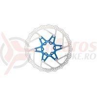 Disc frana Reverse Discrotor 180mm aluminiu/otel albastru inchis