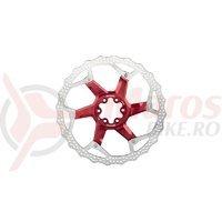 Disc frana Reverse Discrotor 203mm aluminiu/otel rosu C