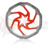Disc frana XLC BR-X58 203/1.8mm, silver/red, CNC