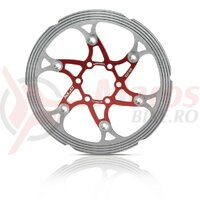 Disc frana XLC BR-X59 160/1.8mm,red/silver,CNC frict.ring 123g