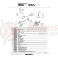 Distantier pentru placute de frana Shimano BR-M965
