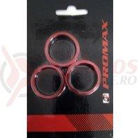 Distantiere cuveti-furca Promax AW-8 2x3mm, 2x5mm, 1x10 mm rosii