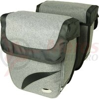 Double bag Haberland trend M grey deluxe, 27x31x11cm, 18ltr
