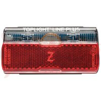 Dynamo LED rear light - Toplight Line Plus w.side light 80mm
