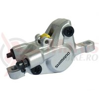 Etrier frana hidraulica pe disc Shimano BR-M446S fara adaptor placute resin argintiu