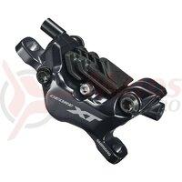 Etrier frana pe disc Shimano DEORE XT BR-M8120, hidraulic, fata sau spate, fara adaptor, placute resin N03A cu aripioare de racire