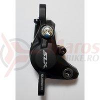 Etrier frana pe disc Shimano SLX BR-M7000 hidraulic fata/spate fara adaptor placute metal J04C cu aripioare de racire