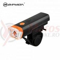 Far Eastpower EBL-046, 1led, 150lumeni, 4functii, senzor luminozitate, baterii negru