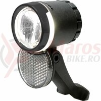Far fata Trelock LS230 LED pt Dinam, Bike-i Veo, 20Lux, 6-12V, negru