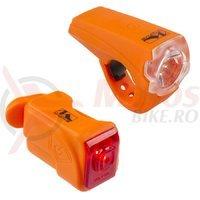 Far si stop cu acumulator M-Wave Atlas K10 USB/25 lux orange