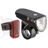 Far + stop Axa Greenline 35 lux USB 1 led negru