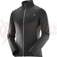 Fleece drumetie Salomon Discovery FZ black barbati
