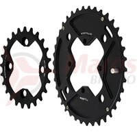 Foaie angrenaj E-THIRTEEN Chainring 24-38T Double Shiftring Kit