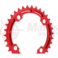 Foaie angrenaj E-THIRTEEN Chainring Guidering 39T (4mm) Red Rocket Anodised