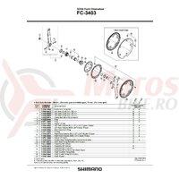 Foaie Shimano FC-3403 39t argintie