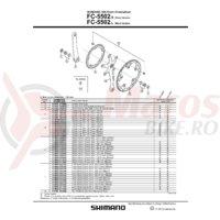Foaie Shimano FC-5502-L 53T B-Type neagra