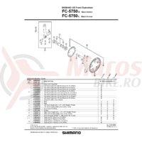 Foaie Shimano FC-5750S 34T argintie