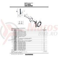 Foaie Shimano FC-5800L 39T-MD neagra pentru 53-39T